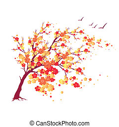 autumn tree - it is done in the program illustrator