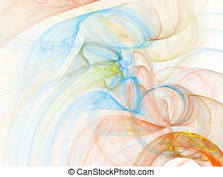 Color and Swirl - Swirling wisps of sheer colors (computer...
