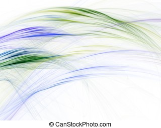 Fiber Flowing Abstract - Vivid fiber flowing colors (fractal...