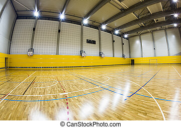 interior of a modern multifunctional gymnasium