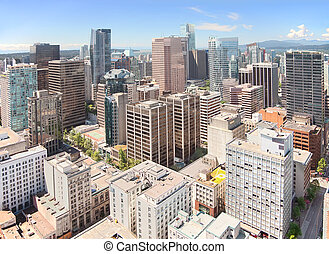 Vancouver Downtown, British Columbia, Canada - A view of...