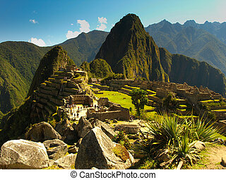 Incredible Machu Picchu - Beautiful view of Machu Picchu...