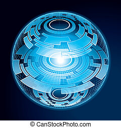 Fantasy Navigation Sphere. Vector Illustration