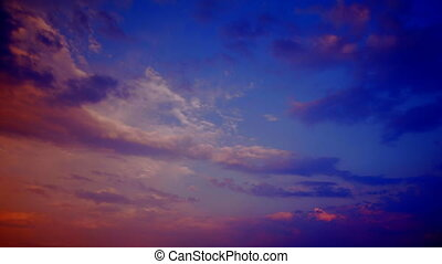 sky in sunset time lapse
