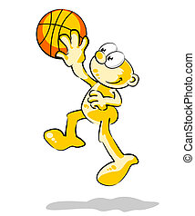 Playing Basketball - Conceptual illustration about sports...