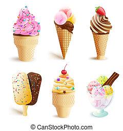 set of ice cream