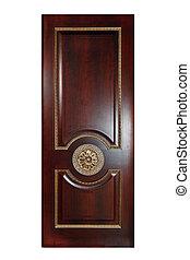 Handmade luxury door. Isolated on white background