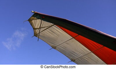 Hang glider wing - Close up of hangglider wing isolated...