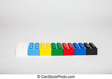 Toy Blocks - Children toy blocks on white background