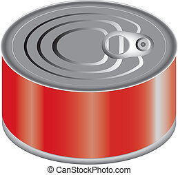 Canned Food - A can of food, maybe fish EPS 10 file attached...