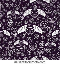 Voodoo Seamless Pattern - This is a vector seamless pattern...