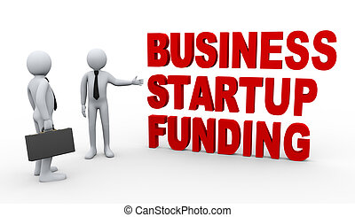 3d businessman startup funding - 3d Illustration of man...