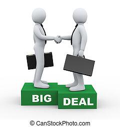 3d business people big deal - 3d Illustration of businessman...