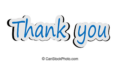 Thank you sticker - Illustration of word thank you sticker