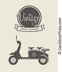 Vintage bike - Vector illustration of a stylized vintage...
