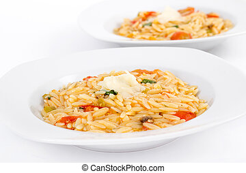 Tomato and basil orzo - tomato and basil orzo risotto bowl...