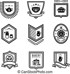 Kitchen badges - Vector set of kitchen badges