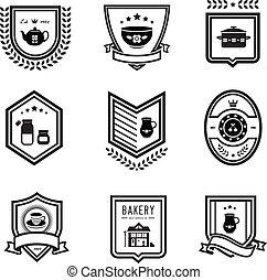 Kitchen badges - Vector set of kitchen badges