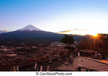Top view of Fuji mountain