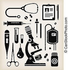 Vector set of medical icons - Vector set of various medical...