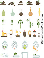 Spa icons - a Vector illustration of various spa icons