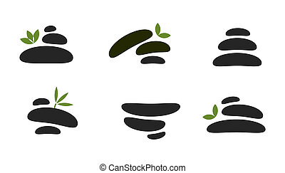 Spa stones - Vector set of spa stones for healthcare...
