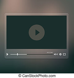 Video player - Vector video player on the dark backround