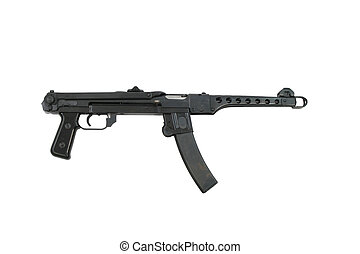 PPS-43 Russian Machine Gun - This is a PPS-43 sub-machine...