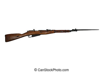 Russian Rifle With Bayonet - This is a Russian Mosin Nagant...