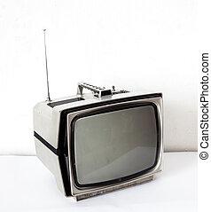 tv, vindima, cinzento