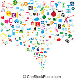 Social network background icons