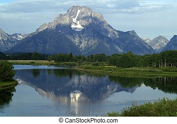 Mount Moran reflections - Mount Moran, Grand Teton National...