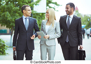 Business communication - Image of friendly business team...