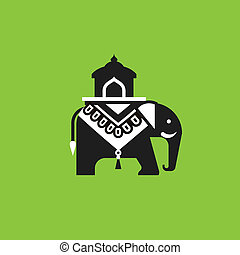 Indian elephant illustration
