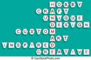 Crossword for the word handmade