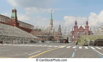 Construction Staging at Red Square, Moscow, Russia