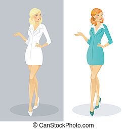 Beautiful doctor woman - Vector illustration of Beautiful...