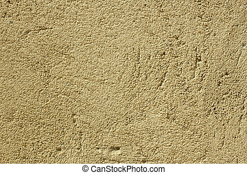 New stucco with fine sand close up