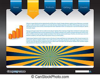 New vector website template