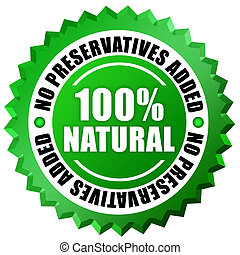 No preservatives added label