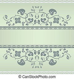 Floral pattern frame.