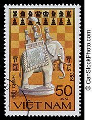 Stamp printed by Vietnam - VIETNAM - CIRCA 1983: stamp...