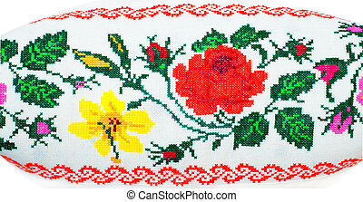 ethnic pattern - Ukrainian ethnic decorative pattern on a...