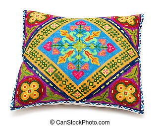 little pillow - childs embroidered little pillow with a...