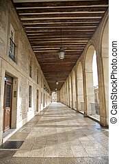 vitoria portico - ancient city of vitoria city in vasque...