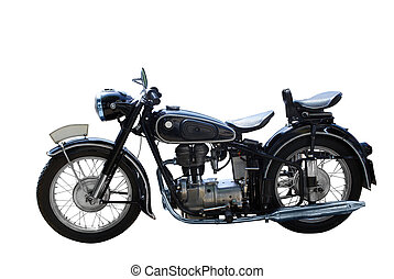 motorbike - oldtimer motorbike isolated