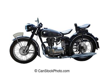 motorbike - oldtimer motorbike isolated
