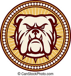Bulldog head angry bulldog, bulldog vector illustration,...