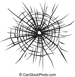 broken glass background - broken glass vector background of...
