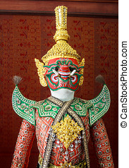 Demon Ramayana Statue Antique History Of Thailand